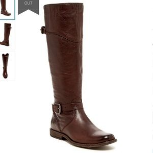 Frye Phillip leather riding boots brown, used worn